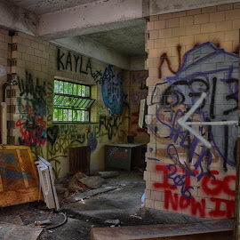 Inside Abandoned Hospital  by Lorraine D.  Heaney - Buildings & Architecture Decaying & Abandoned