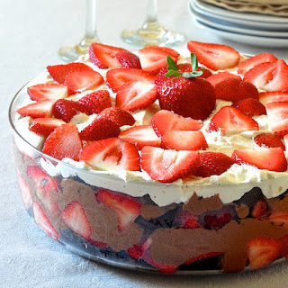 Easy Chocolate Mousse Strawberry Trifle