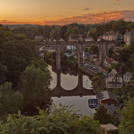 Knaresborough by Steve BB - Landscapes Sunsets & Sunrises ( harrogate, north yorkshire, waterscape, sunset, viaduct, landscape, knaresborough )