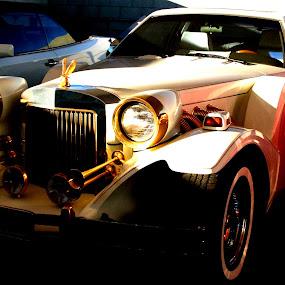White Classic Car by Jacob Woolwine - Transportation Automobiles ( white shade, car, jake, windows )
