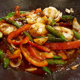Scallops Stir Fry with Vegetables by Michael Villecco - Food & Drink Ingredients ( scallops, colorful, vegetables, food photography, stir fry,  )
