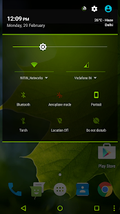 Neon Green - Layers Theme - screenshot