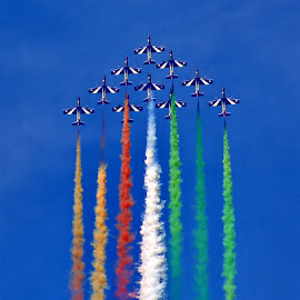 Amazing Frecce Tricolori by Bernarda Bizjak - Transportation Airplanes