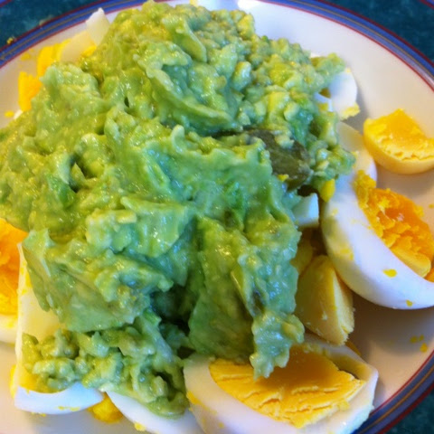 Boiled Eggs with Mashed Avocado