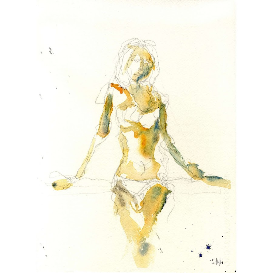 Female woman art painting life drawing nude