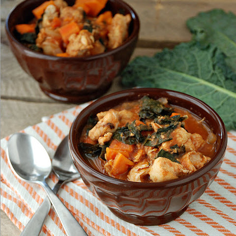 Slow Cooker Chicken, Sweet Potato, and Kale Stew