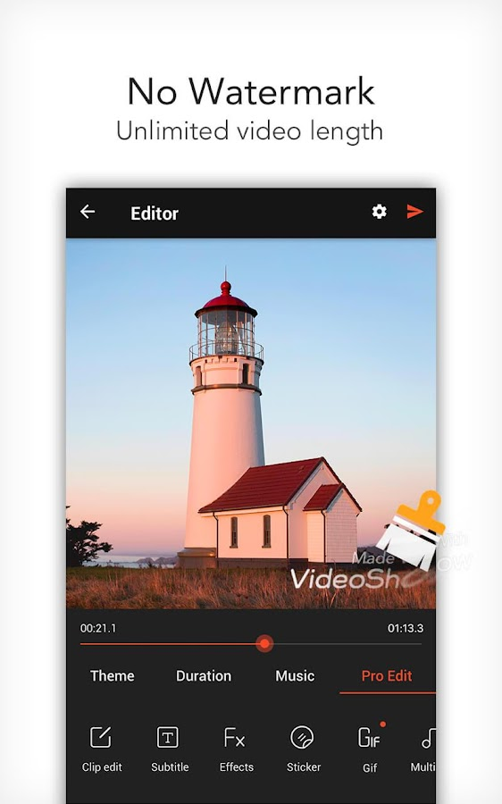 VideoShow Pro -  Video Editor Screenshot 0