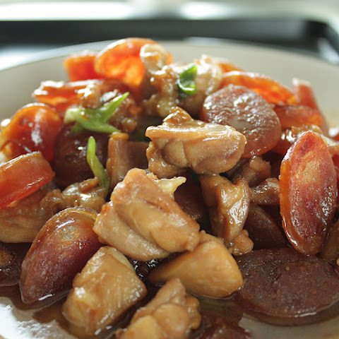 Chinese Sausage and Chicken in Soy Sauce