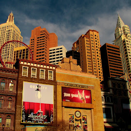 Las Vegas by Abbey Gatto - City,  Street & Park  Skylines ( las vegas, buildings and architecture, skyline, nevada, cityscape )