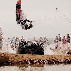 Fly and fall by Claudia Romeo - Sports & Fitness Watersports ( uk, sea, beach )