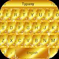 Free Golden Glitter Typany Theme APK for Windows 8