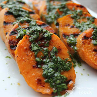 Grilled Sweet Potatoes with Cilantro, Scallions, and Lime