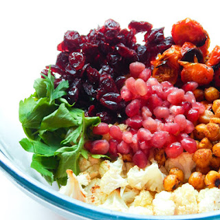 Roasted Chickpea Pomegranate Salad