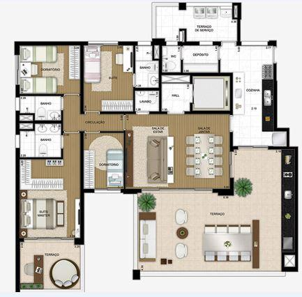 Planta Tipo - 181 m²