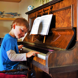 Play it again Squidge by Kevin Guest - Babies & Children Child Portraits