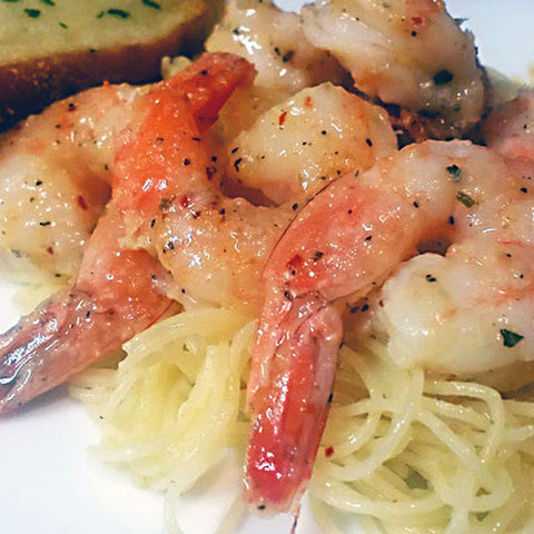 Lemony Garlic-Butter Shrimp with Angel Hair Pasta