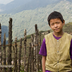 The Nepali Boy  by Snehasis Daschakraborty - People Portraits of Men
