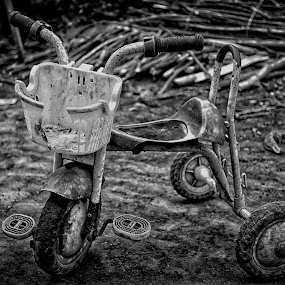 Little Cycle by Syf Talkie - Artistic Objects Still Life ( cycle, black and white )
