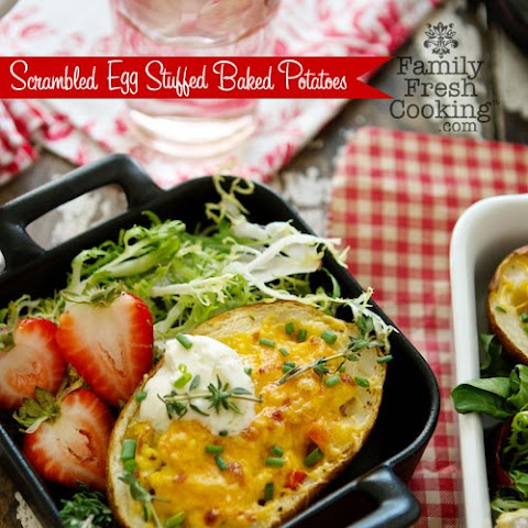 Scrambled Egg Stuffed Baked Potatoes