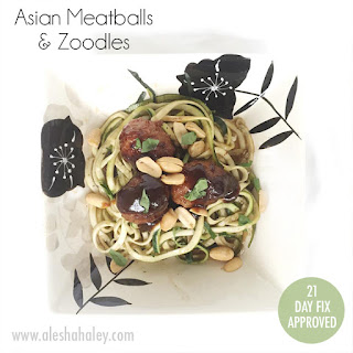 Asian Meatballs with Zoodles