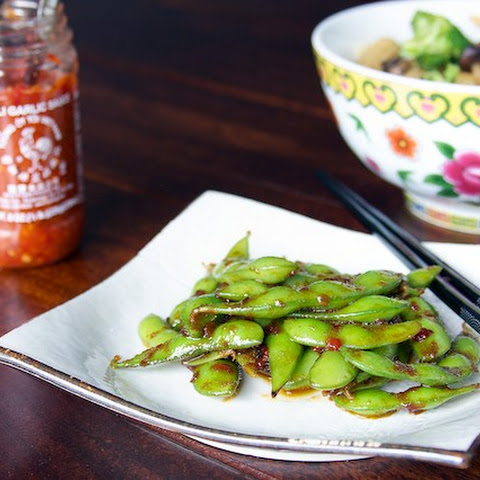 Edamame with Garlic Chili Sauce
