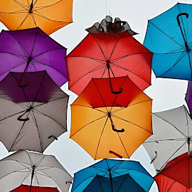 Round and Round by Marcel Cintalan - Artistic Objects Other Objects ( enjoyment, colourful, umbrellas, sarajevo, round,  )