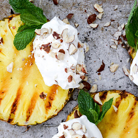 Grilled Pineapple with Coconut Whipped Cream