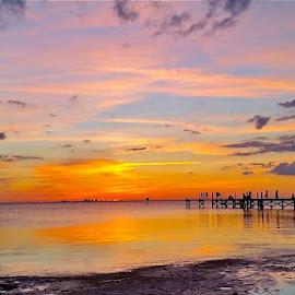 { The Pier - Apollo Beach } # 2 by Jeffrey Lee - Landscapes Sunsets & Sunrises (  )