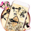 Cartoon Keyboard Theme for Lollipop - Android 5.0