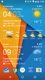 Transparent clock weather Pro- screenshot thumbnail