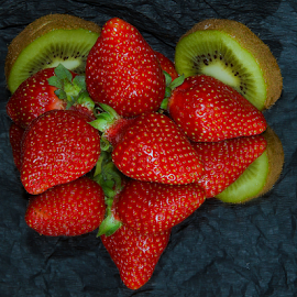 strawberrys with kiwi by LADOCKi Elvira - Food & Drink Fruits & Vegetables