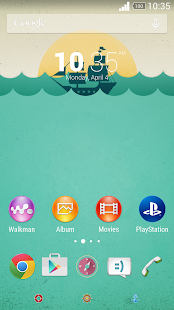 Retro Xperia theme - screenshot
