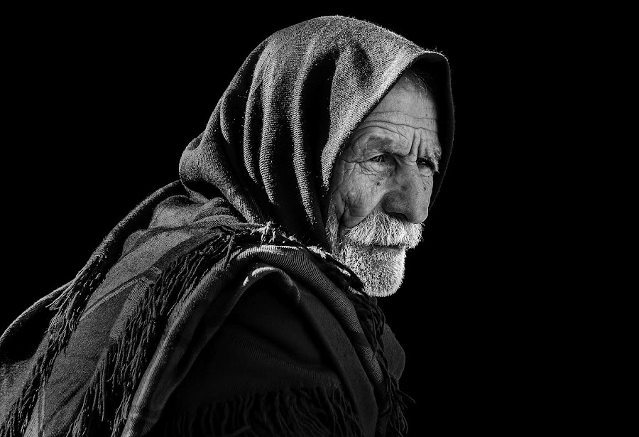 men by Mustafa Tor - Black & White Portraits & People ( white, old man, proud, black, portrait )