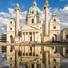 Karlskirche, Vienna. by Graeme Hunter - Buildings & Architecture Places of Worship