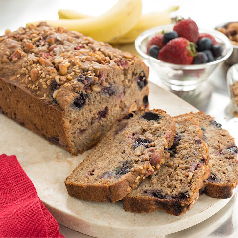 Berry Nutty Whole Wheat Banana Bread