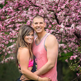 Pink Tree by Marissa Frederick - People Couples ( tree, wife, outdoors, summer, husband )