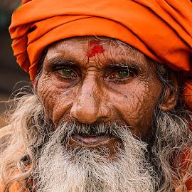 Bangali Tantrik baba by Rakesh Syal - People Portraits of Men (  )