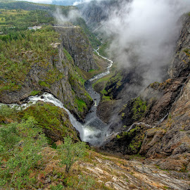 Vøringsfossen by Svein Hurum - Landscapes Mountains & Hills ( waterfall, norway )