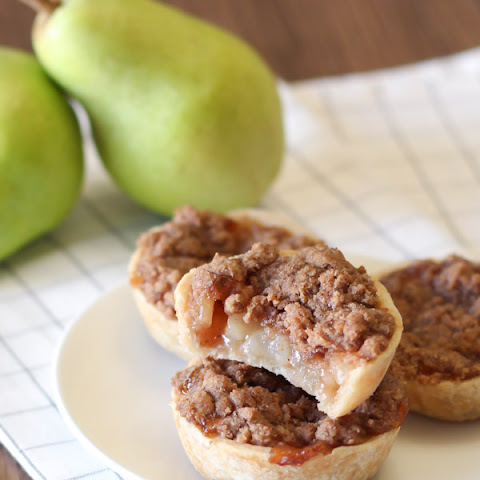 Gluten Free Vegan Mini Pear Pies With Crumb Topping