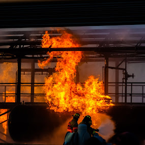 Fiery Dragon by Colin Toone - Abstract Fire & Fireworks ( explosion, firefighter, fire, tank, water )