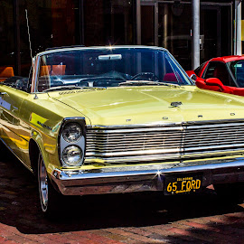 1965 Ford Convertible by Phil Deets - Transportation Automobiles ( automobile, florida, yellow, ford, antique, convertible )