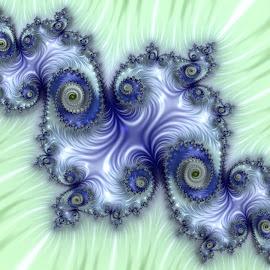 Island by Cassy 67 - Illustration Abstract & Patterns ( abstract, blue, green, swirl, wallpaper, digital art, spiral, relaxing, fractal, digital, fractals )
