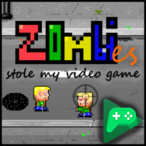 Retro blasting zombie bashing.    Protect your friend by tapping the zombies.... APK Icon