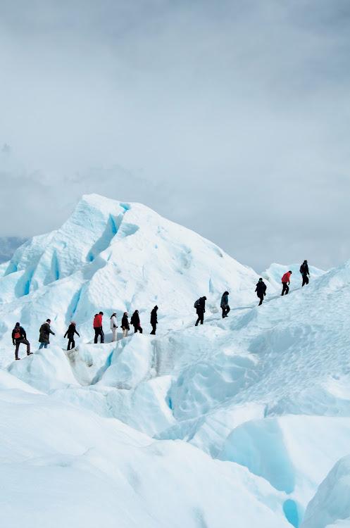Ice trekking on the Perito Moreno glacier in Argentina