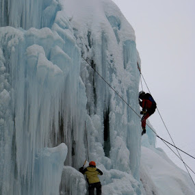 Ice climbing by Hamed Ghalandar - Sports & Fitness Climbing ( tehran, meigoon, iran, hameloonvalley )