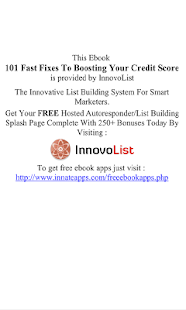 101 Fixes To Boost Your Credit - screenshot