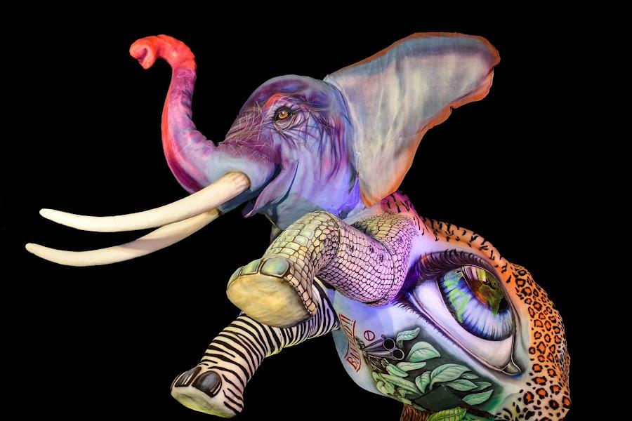 Carnevale di Viareggio by Simona Ciglenean - Illustration Animals ( #carnevaleviareggio #italia )