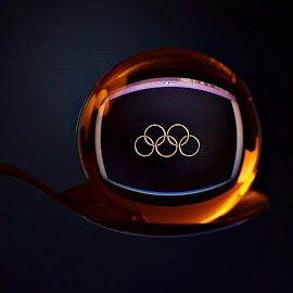 Olympic Emblem  by Prasanta Das - Artistic Objects Glass ( olympic, ball, emblem, crystal )
