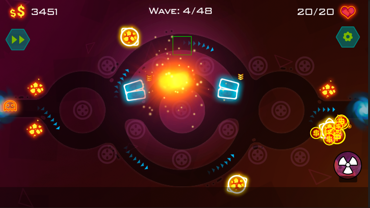 Tower Defense: Geometry War Screenshot 4