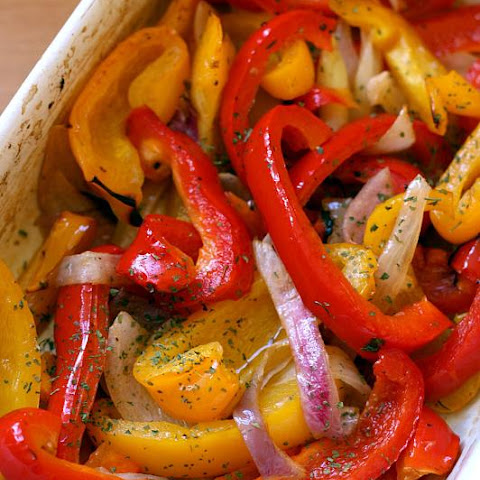 Oven Roasted Sweet Peppers
